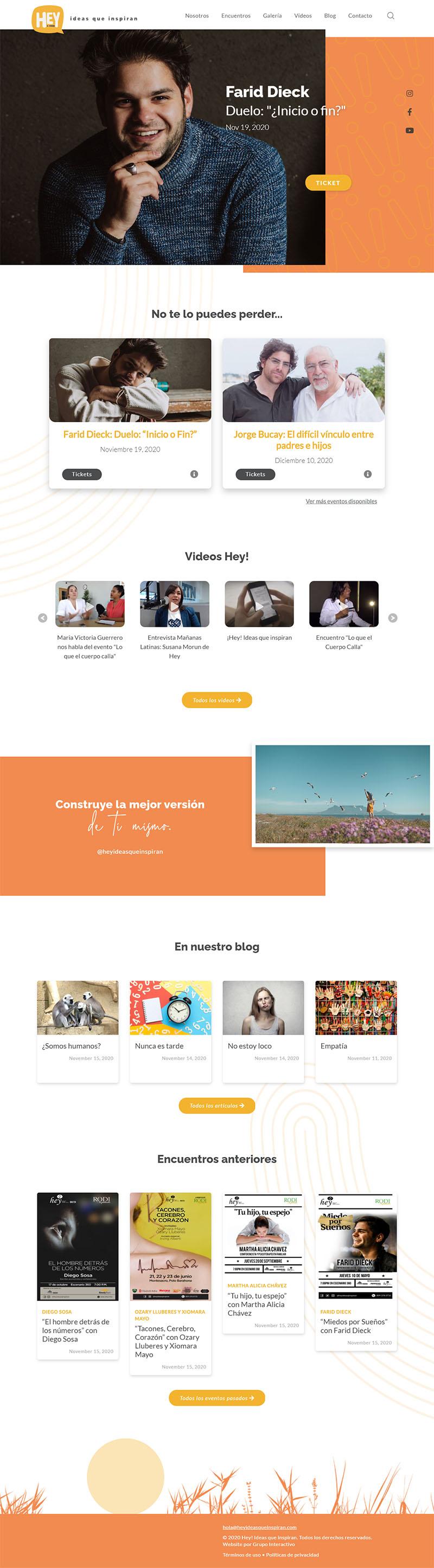 Diseño de Website Hey-Ideas que inspiran