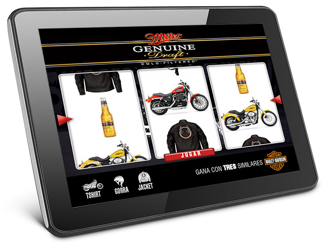 Tablet con juego interactivo
