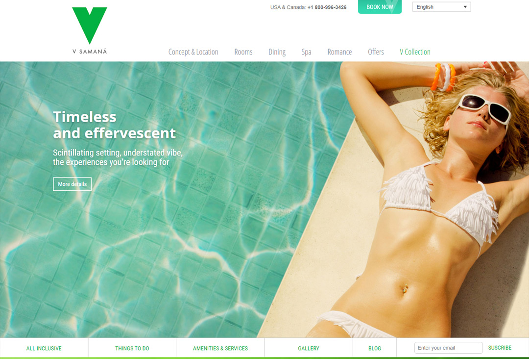Muestra de website VCollection Resort