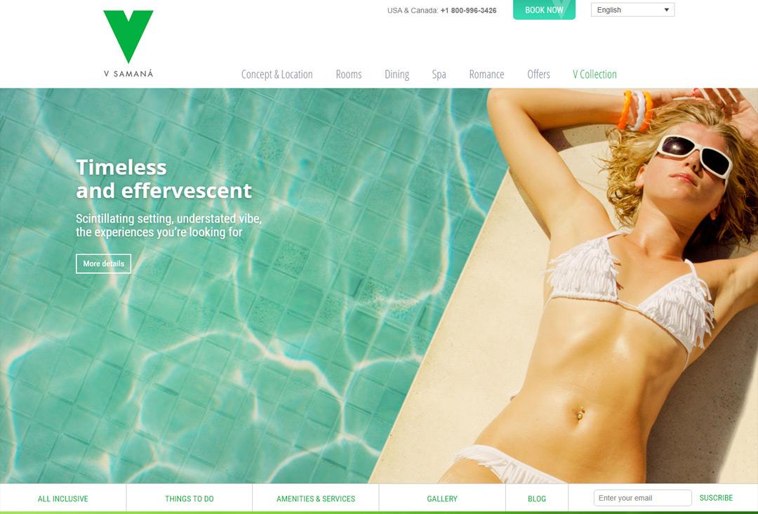 Muestra de website VCollection Resort
