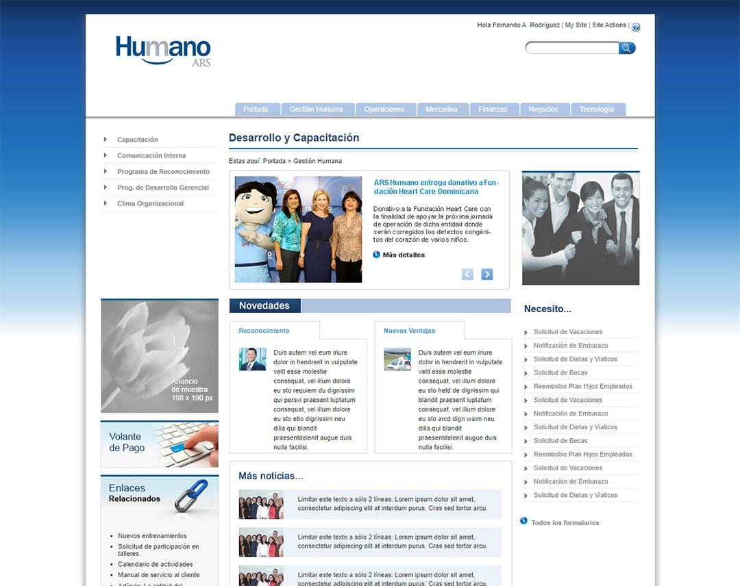 Diseño de intranet ARS Humano