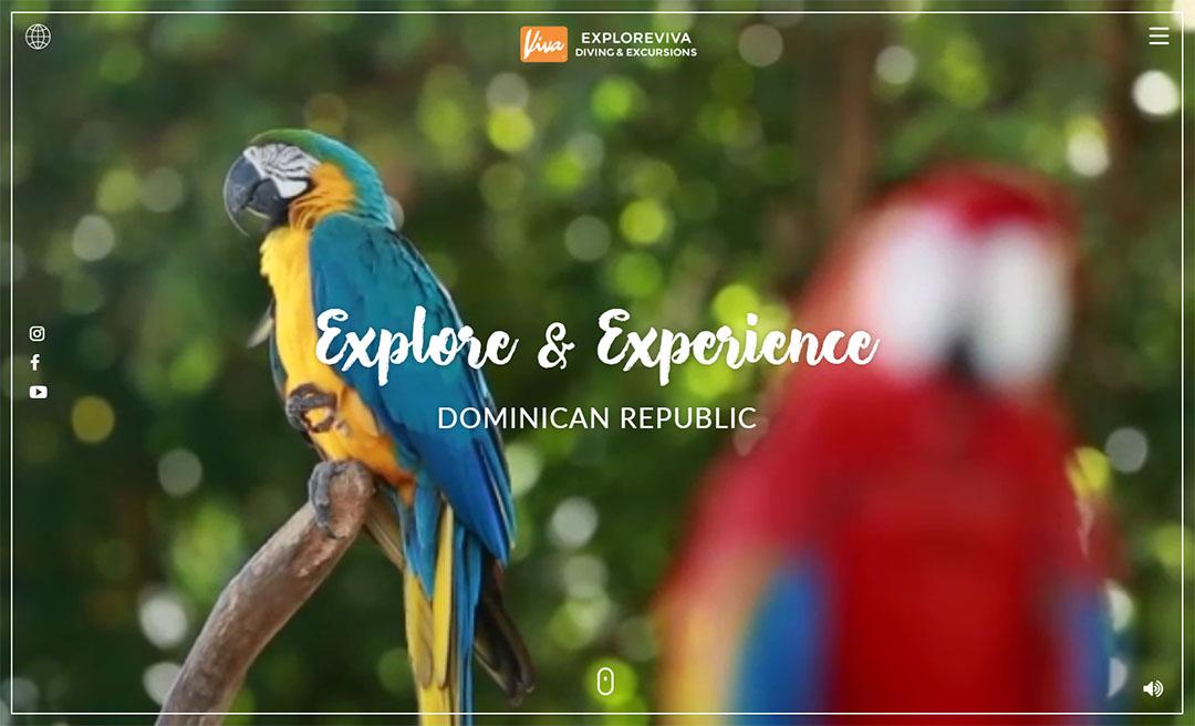 Diseño de Website Explore Viva
