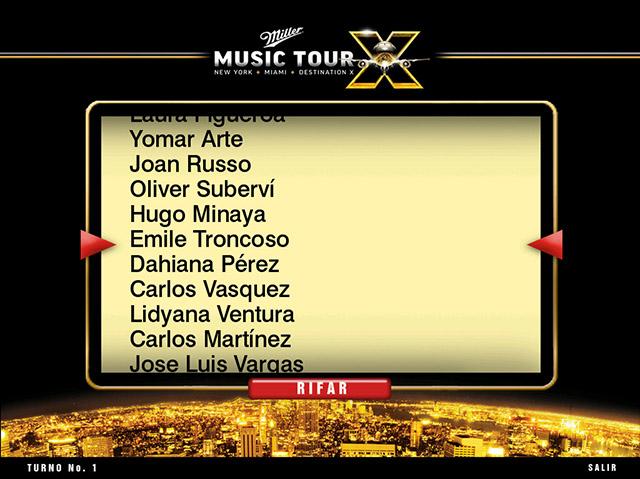 Rifa digital Miller Music Tour
