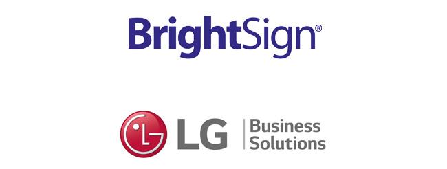 Socios estratégicos BrightSign y LG Business