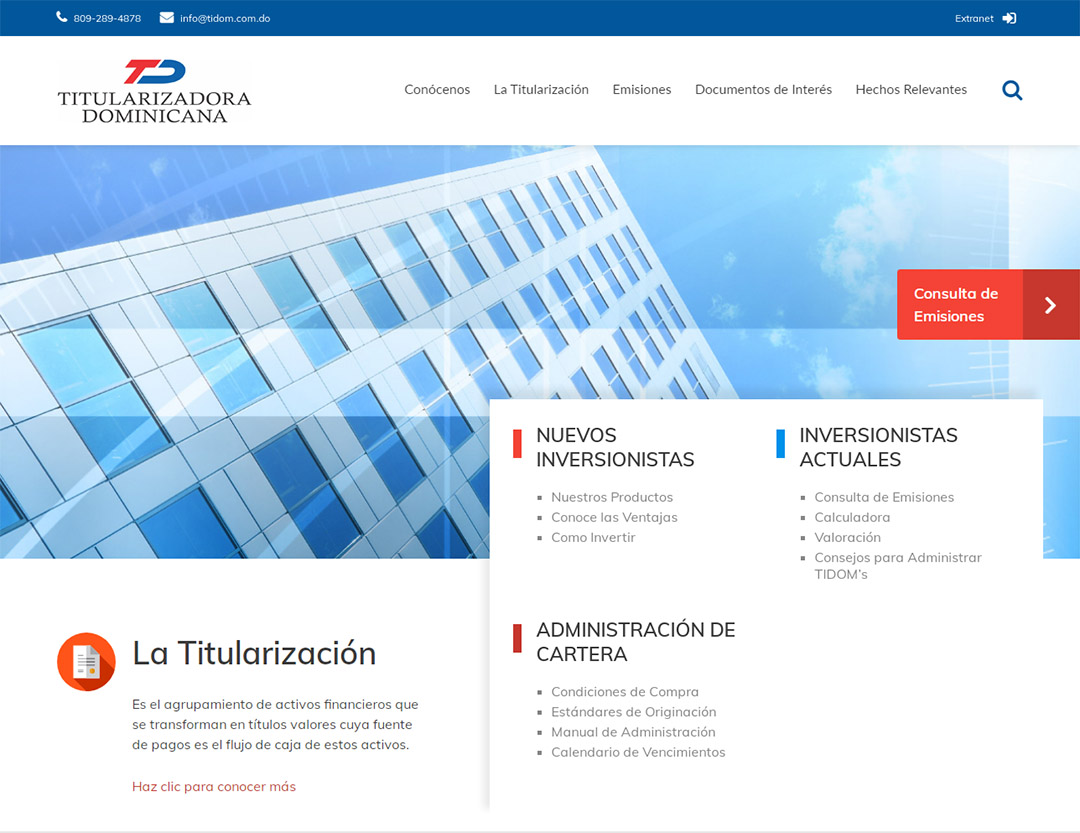 Diseño de Website Tidom