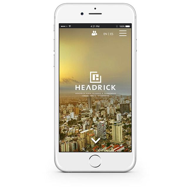 Website en su versión móvil o responsive