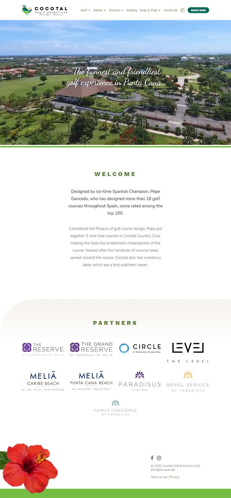 Cocotal Golf - Diseño de website